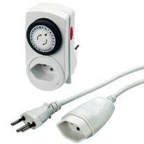 Zeitschaltuhr mit oder ohne Verlängerungskabel 230V 1.0mm