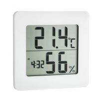 Hygrometer / Thermometer TFA mit Uhr