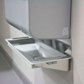 Tropfwanne zu Dyson Airblade, silbermetallic mit Wandschutzblech