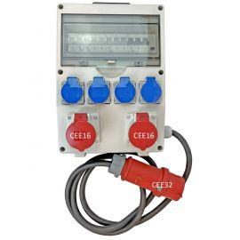Stromverteiler CEE16 mit Rack