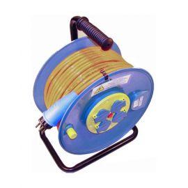 PUR Kabelrolle für Baustelle 230V Q1.5 mm² (oranges Kabel)