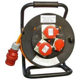 PUR Kabelrolle für Baustelle 400V Q2.5 mm² (oranges Kabel)