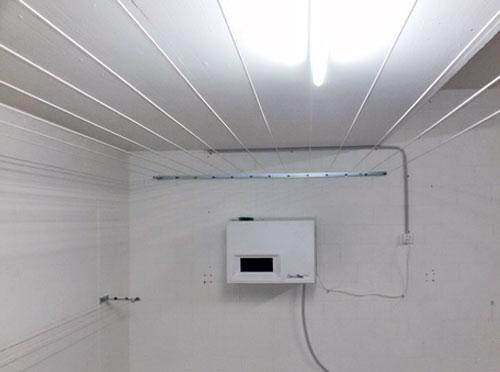 Wäschetrockner Secomat 1300, Wäscheleinensystem und Juniorleinen seitlich