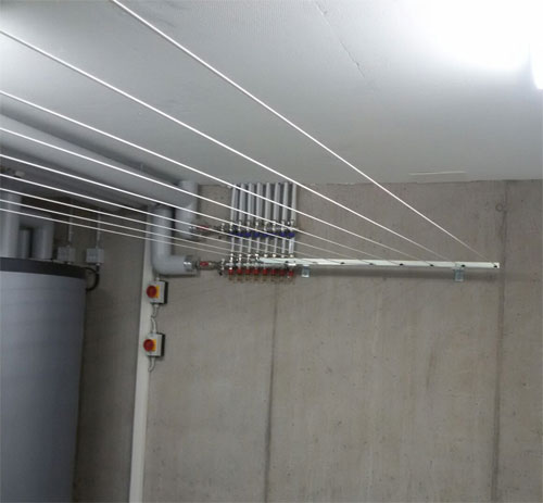 Wäscheleinen Dryfix Vario Metall mit Distanzhaltern
